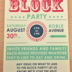 End of Summer Block Party | Typography Edition