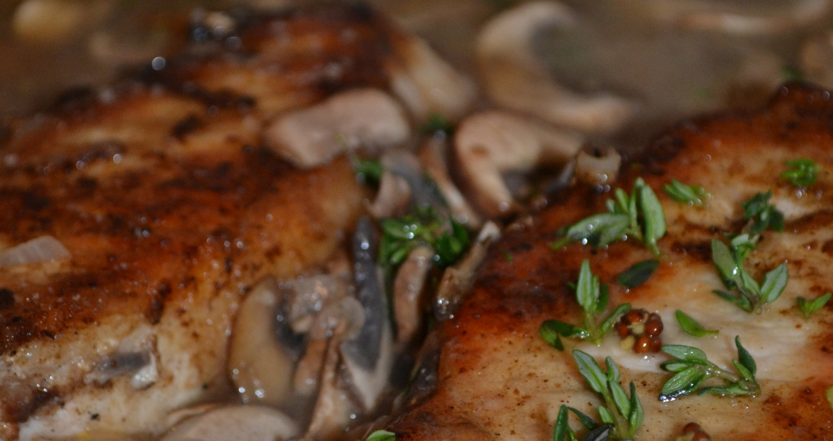 Sunday Dinner: Pork Marsala with Mushrooms and Shallots