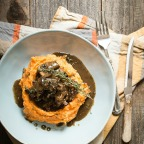 NYE Dinner: Cider Braised Short Ribs with Mashed Sweet Potatoes